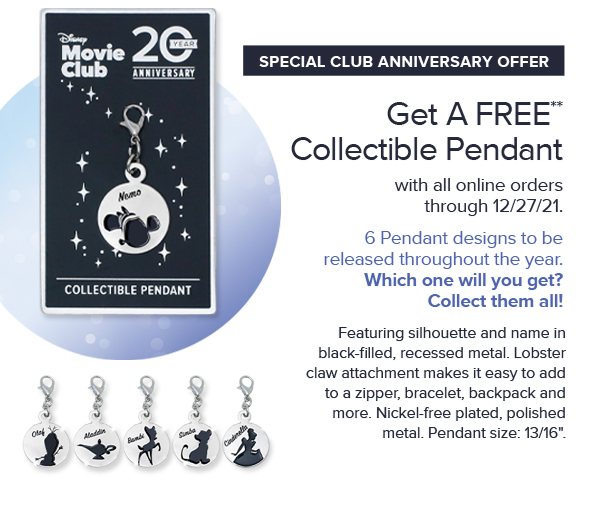 Get A FREE** Collectible Pendant